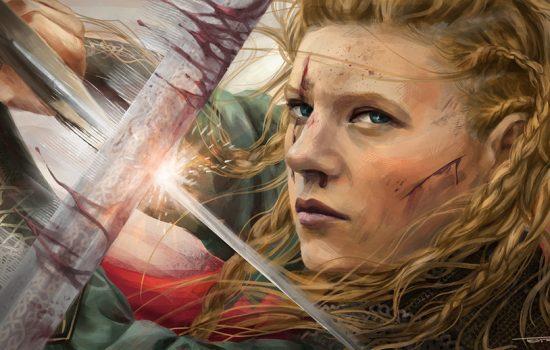 Lagertha, Guerrière au bouclier