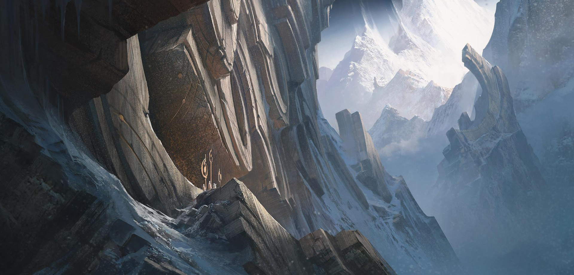 Mont Targon, les gravures divines (runeterra)