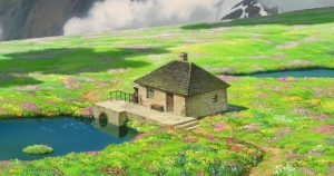 champ de fleurs - Miyazaki - Hauru no Ugoku Shiro