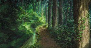 forêt et ruisseau - Miyazaki - Kaze tachinu