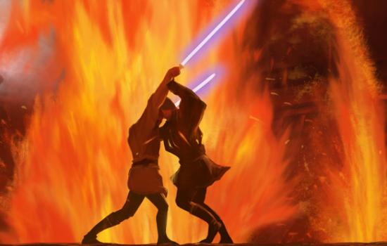 Anakin & Obi-Wan sur Mustafar