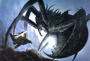 © Sam and Shelob, by John Howe